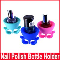 art artifact - Convenience Nail Art Tools Artifact Sets Accessories Necessities Silica Gel Nail Polish Bottle Holder Beauty Care