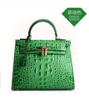 alligator leather handbags - Kylie handbag new leather bag star crocodile bag Lock dermis Crocodile pattern Mobile phone bag bag zipper