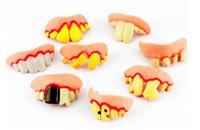 Wholesale Fake Teeth Goofy Rotten Teeth Decayed Tooth Prank Denture Set April Fool s Day Practical Jokes Toy