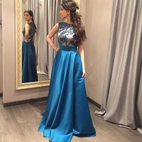 beautiful night pictures - Beautiful Applique A Line Formal Night Dress Sexy High Neck Satin Prom Dresses Whole Sale Custom Made Pageant Dress