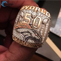 super bowl rings - New Arrival Denver Broncos Super Bowl Championship Ring replica rings for man fans as the best gift