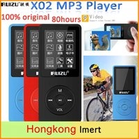 Wholesale Ultrathin RUIZU X02 Plus MP3 Player with Inch Screen can playing H high quality With FM E Book Clock Data