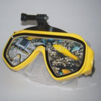 Wholesale 2015 High Quality Diving Mask Swimming Goggles for SJ4000 Sport Camera Silicone Swimming Equipment Mask to Swim