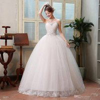 basque dresses prices - Bridal Wedding Dresses Cheap Wedding Gown Plus Size White Lace Romantic Wedding Dress Price