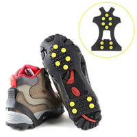Wholesale 1 Pair Professional Camping Climbing Ice Crampon Anti Slip Ice Snow Walking Shoe Spike Grip Outdoor Equipment