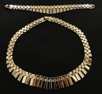 Wholesale Foreign trade new necklace bracelet jewelry set two piece jewelry