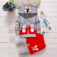 american jaket - Hug Me Girls Boys Sets Christmas Kids Clothing Autumn Girls Long Sleeve Cotton Jaket Pants Pieces Sets AA