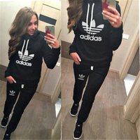 aa standards - Hot New Women active set tracksuits Hoodies Sweatshirt Pant Running Sport Track suit Pieces jogging sets survetement femme clothing AA