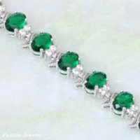bangle suppliers - High quality suppliers charm bracelet silver plated green Cubic Zirconia Peridot Bracelets amp bangles B349