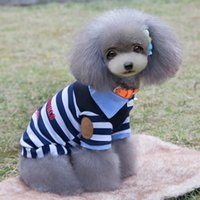 Wholesale Dog Pet Striped Vest Shirt Cat Puppy Spring Summer Clothes Dog Clothes FULL USD20