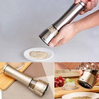 Wholesale DHL free Salt and Pepper Grinder Pepper Mill Spice Grinder Kitchen Tools Stainless Steel for Hotel Home Restaurant