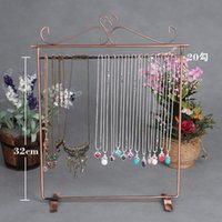 Wholesale 20 Hook Necklace Display Rack Bracelet Display Jewelry iron frame sweater chain display rack display rack