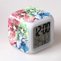 alarm clock project - New Touhou Project Creative Led Alarm Clock Desk Clock Digital Alarm Clock with Snooze Calendar Thermometer Kids Toy