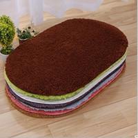 Wholesale Seven Colours cm Polyester Fiber Home Textiles Ellipse Carpet Water Uptake Home Office Hotels Antiskid Rug