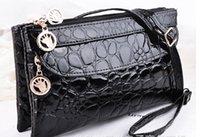 Wholesale Crocodile PU leather snap button bag wallet OEM ODM QB102 fit mm mm snaps