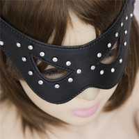 adult pink eye - Hot Sale Black Pink Leather Blindfold Sexy Eye Mask Bondage Tease Sex Aid Party Fun Sex Toys For Couple Adult Games