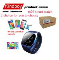 M26 smartwatch Wirelss Bluetooth Montre Smart Bracelet Téléphone Caméra Télécommande Anti-perte d'alarme Baromètre A1 dz09 watch pour IOS Android
