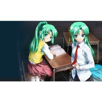 big green animations - anime girl green hair Playmat Animation Playmat Video Games Playmat Magic Card Games Playmat Custom Print Big Mouspad