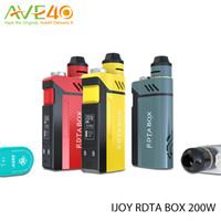 Wholesale IJOY RDTA BOX W Kit w Box Mod with ml Tank inch OLED Screen IMC deck