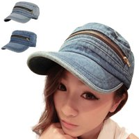 acrylic profiles - 2016 Women Fashion snapback Vintage Low Profile Jean Hat Service Cap Baseball Cap Peak Cap