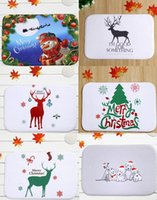 Wholesale 40 cm Christmas Series Bath Mats Anti Slip Rugs Coral Fleece Carpet For For Bathroom Bedroom Doormat Online