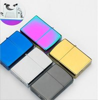 arc materials - Usb Lighter Rechargeble Electronic Lighter Smoking Windproof Lighters usb Arc lighter colors zinc alloy material Brand new