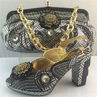 best low heel pumps - Best low price African embroidery shoes and bag fast shipping ME3311