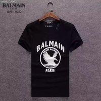 Cheap Free Shipping 2016 New Mens BALMAIN T-Shirts O Neck Tshirts