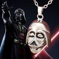 american war helmets - 2016 Movie Jewelry New Style Star War Darth Vader Empire Storm Trooper Helmet Pendant Necklace Men Women Fans Keepsake ZJ