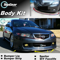 acura tl bumper - For Acura TL The Stig Recommend Body Kit Front Skirt Deflector Spoiler For Car Tuning Bumper Lip Strip