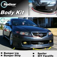 Wholesale The Stig Recommend Body Kit For Acura TL Front Skirt Deflector Spoiler For Car Tuning Bumper Lip Strip