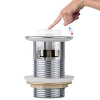 abs vessel - 8cm Brass Bathroom Bath Sink Vessel Basin Overflow Pop Up Drain Drainer