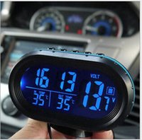 automotive electronic supplies - New luminous vehicle car electronic clock watch clock automotive supplies car thermometer