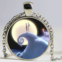 american nightmare - New Fashion Pendant necklaces nightmare before christmas necklaces sally skellington necklaces Glass Cabochon Dome Jewelry