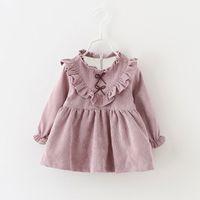 Wholesale Christmas new female baby children s clothing Autumn winter girls long sleeved dress Fashion and velvet princess skirt cotton