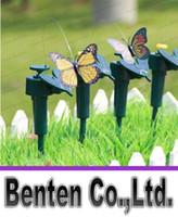 Wholesale New Solar humming birds butterflies garden toys students enlightenment educational toys solar and battery combo LLFA