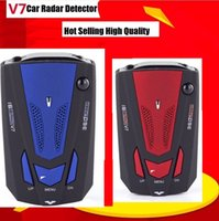 Wholesale New V7 Cobra Car Radar Detector quot LCD Display Radar Laser Speed Detector With English Russian Voice Support X KU KA