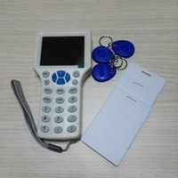 rfid handheld reader - Handheld Smart IC NFC ID Card Frequency RFID Copier Reader Writer Programmer with Keyfobs ID Cards