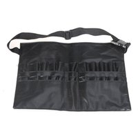 Wholesale Approx g oz Black Color PVC Professional Cosmetic Makeup Brush Apron Waist Bag Artist Belt Strap Holder
