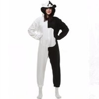 Wholesale Danganronpa Dangan Ronpa Monokuma Monomi Bear Fleece Onesie Pyjama Costume Halloween Carnival Party Clothing Cartoon Jumpsuit Sleepwear