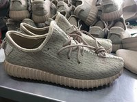 Cheap With Box Adidas Yeezy Boots 350 Men Women Running Shoes Discount Yeezys 350 Jogging Shoes oxford tan Sneakers Free Shipping Size 5-11.5