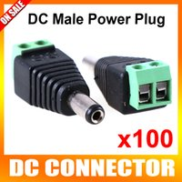 Wholesale 100pcs CCTV DC Male Power Jack Adapter Connector Plug CCTV Accessories