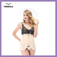 babydoll sheer - Sexy Lingerie Spaghetti Straps Lace Gauze Bow Sheer new hot women Sexy Babydoll Lingerie