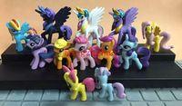 Wholesale New Sale NEW Hot Set cm My Little Pony style Action Figure Pvc Mini dolls toys gift