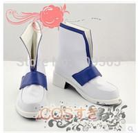 al por mayor zapatos de asuna-Venta al por mayor-Libre! Sword Art Online ALO Hada de la danza Asuna Botas cosplay zapatos hechos a mano personalizada de Halloween