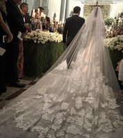 Romantic One-Layer Cathedral Length Best Selling Cheap Bridal Veils Cathedral Length Lace Wedding Veils 3m Long Bride Veils Custom Made One Layer Bridal Dress Veil Free Comb
