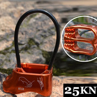 atc equipment - ATC Escalade Descender Guard Rock Climbing Double Slot Descender Rope Access Protection Belay Device Downhill Outdoor Equipment