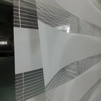 Wholesale Custom Made Polyester Translucent Roller Zebra Blinds in Light Grey Window Curtains for Living Room GY01 Colors are Available