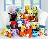 Wholesale 2016 New Poke plush toys styles torchic Mewtwo Groudon Charmander eevee Pikachu cm Soft Stuffed Dolls toy New years Gift