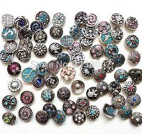 Wholesale noosa button interchangeable Mix Many styles new fation mm Metal Snap Button Charm Rhinestone Styles Button Ginger Snaps Jewelry